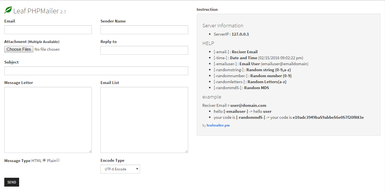 Leaf PHPMailer - Download